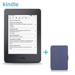 Wholesale Kindle Book Reader New - Wholesale- New Kindle E-Book Reader Black E-ink Electronic Ink Screen Max 4G with Lithium Battery Wifi High-Resolution+Blue Cover