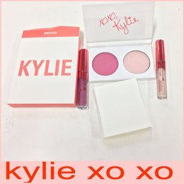 Wholesale Valentine Christmas - 2017 Kylie XOXO collection mini kyshadow & lipsick Kylie Jenner diary eye shadow kyie Valentine Eyeshadow lipgloss set free shipping