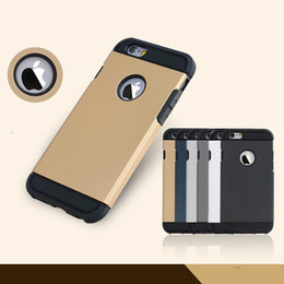Wholesale Iphone5 Slim Armor - Luxury Armor cases For Iphone6 plus iphone 6s iphone5 SE cases TPU PU Shockproof Cell Phone Cover for Slim Armor Iphone cases cover