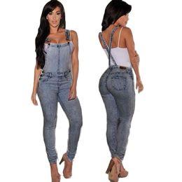 Wholesale Denim Jumpsuit 12 - Wholesale- SIF Women's Fashion Summer Sexy Empire Waist Slim Fit Casual Baggy Loose Jeans Denim Overalls Pants Jumpsuit Long Romper MAY 12