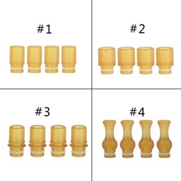 Wholesale E Cigarette Tips Dhl - PEI Drip Tip Anti Heat Heatproof E Cigarette Tips for 510 Thread Atomizers and Tanks DHL EMS Freeshipping