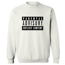 Wholesale Parental Advisory Hoodie - Parental Advisory Explicit Content europe hip-hop punk style letters sweatshirt autumn fashion tracksuit women o-neck hoodies