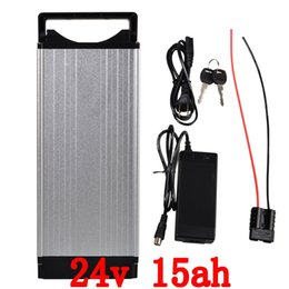 Wholesale Electric Bicycle Battery 24v - 24V 15AH Rear rack Lithium Battery , Aluminum alloy Battery Pack , 29.4V Electric bicycle Scooter E-bike Free Shipping