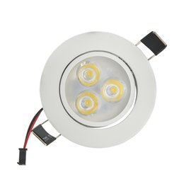 Wholesale Led Lit Shower Knob - Wholesale- 100X 3W 6W Driver Dimmable LED Ceiling Spot Lights AC220V Bathroom Shower Room LED Downlight lampara DHL Free Shipping