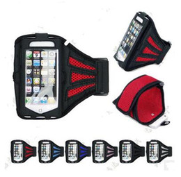 Wholesale Soccer Phone Cases - fashion Waterproof Sport Arm Band Case For Samsung Galaxy S3 S4 S5 S6 Arm Phone Bag Running Accessories Band Gym Pounch Belt Cover 12 pcs