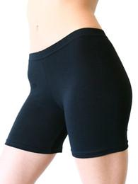 Wholesale White Cotton Lycra Leggings - 2017 Hot Europe Big Yards Stretch Cotton 35 leggings black and white Female Foot Shorts Sport Shorts