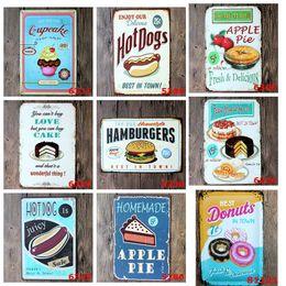 Wholesale Chic Bedroom Decor - Shots Menu Vintage Tin Signs 20*30 Shabby Chic Home Decor House Bar Pub Cafe Vintage Metal Sign Home Decor
