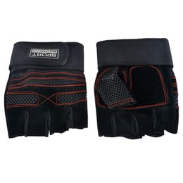 Wholesale finger support gloves - Wholesale- CALOFE Hot Half Fingers Breathable Wrist Support Gloves Outdoor Sports Bodybuilding Wrist Protective Gear Sports Accessories