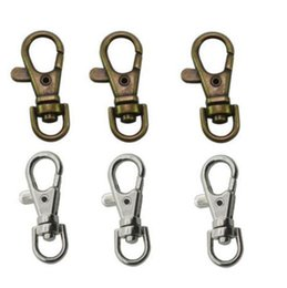 Wholesale Luggage Clasps - Wholesale Bronze Silvers Lobster Clasps Swivel Trigger Clips Bag Parts Accessories Luggage Keychain Ring Hanger Keys Bag Key Ring Handbag