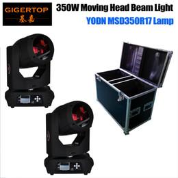 Wholesale Narrow Led - Freeshipping 2in1 Flightcase Pack 17R 350W Beam Moving Head Light LED Touch Screen 3 Degree Lens Narrow Beam Professional DJ TIPTOP