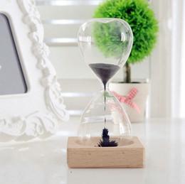 Wholesale Magnet Timer - Magnet Hourglass Timer High Quality Home Furnishing Decorate Craft Glass Bottle Desktop Decor Gift For Kids 11 8ke J R
