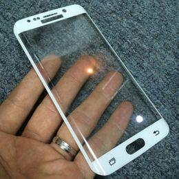galaxia s6 borde más templado completo Rebajas Protector de pantalla de cubierta completa de vidrio templado 9H para Samsung Galaxy S6 Edge Plus S7 Edge S8 / S8 Plus