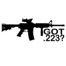 Wholesale Door Force - 22.9CM*8.4CM Got .223 AR-15 NRA USMC Army Navy Air Force AR-15 AK-47 Guns Vinyl Car Decals Car Stickers JDM