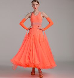 Wholesale Tango Dance Wear - 2018 new style ballroom dress for women ballroom competition dresses waltz tango dance wear dress standard rhinestone dance costumes