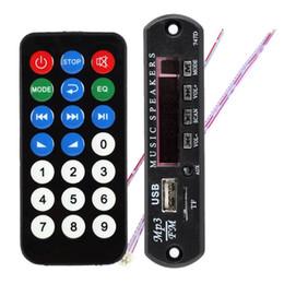 Wholesale Mp3 Module Sd - Wholesale- Remote SD MP3 Player ZTV-M011 Remote Controller Module FM USB 2.0 3.5mm