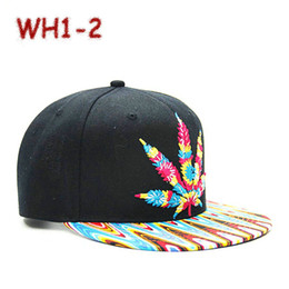 Wholesale Bob Marley Snapback Rasta Hemp herb Leaf Pot Flat Bill Snapback Baseball Cap pc