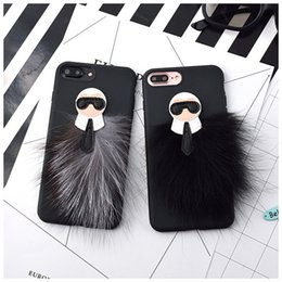 Wholesale Cover Grey Hair - For iphone  Samsung s7 s7edge s8 s8plus NOTE 5 NOTE 4 7 7plus 6splus 6plus 6 Mink hair phone case soft shell cover