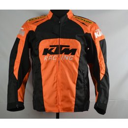 Wholesale Motorcycle Jackets Oxford - High quality KTM motorcycle Racing jacket oxford clothes motorbike jacket big size with protective gear size M to XXXL