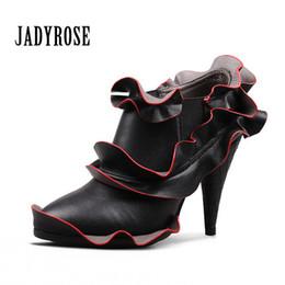 Wholesale Petal Shoes - Fashion Women's shoes adyrose new petals short boots European and American women's shoes lace socks two women's wear boots
