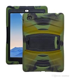 Wholesale Ipad Air Cases Kickstands - 3 In 1 Soft Robot Defender Silicone Hybrid PC Hard Case Cover For New IPad 9.7 2017 IPad Air 1 2 Pro-9.7