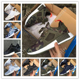 Wholesale Pink Plastic Boxes - Cheap NMD XR1 BOOST Runner Camo Green Pink White Mens Womens Sport Running Shoes Fashion NMD XR 1 Runner Athletic Shoes With Box Eur 36-45