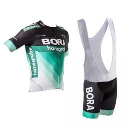 Wholesale Black Cycling Kits - 2018 new pro team bora hansgrohe blue summer cycling jersey kits short-sleeve QuickDry bike clothing race MTB ropa ciclismo maillot GEL