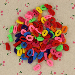 2019 fasce boe diy Wholesale- 200 Pz Colorful Child Kids Hair Holders Cute Rubber Hair Band Elastici Accessori Girl Women Charms Tie Gum