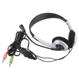 Wholesale Headphone Skype - 3.5mm Stereo Earphone Headband Headset Headphone With Microphone MIC VOIP Skype for PC Computer Laptop #21228