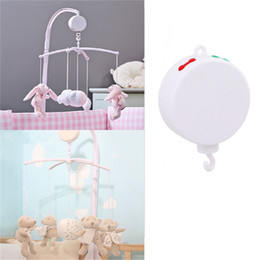 Wholesale Music Box Movement - Wholesale- Song Rotary Baby Mobile Crib Bed Bell Toy Battery-operated Clockwork Movement Music Box Newborn Bell Crib Baby Toys DW887702