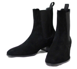 Wholesale Skins Half - 2017 Autumn and Winter Men's Shoes Warm Martin Boots Matte Skin Personalized Chelsea Boots
