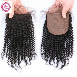 Wholesale Silk Bleach Knot Closure - Best 2~3 days Free Shipping Curly Wave Silk Base Closure,Virgin Human Hair Silk Base Closure,4*4 Silk Base Closure Bleach Knots
