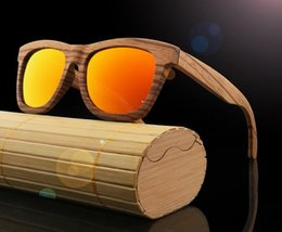 Wholesale Fox Films - 2017 bamboo wood sunglass retro wood glasses color film polarized brand fashion fox sunglasses eyewear female sunglasses shades goggles B651
