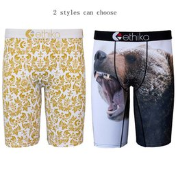 Wholesale Animal Underwear - Ethika Men's Underwear Cotton Boxer Royalty White and bear print