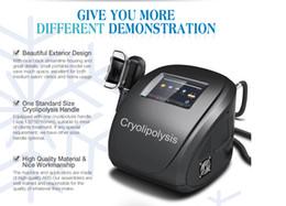 Wholesale Cryolipolysis Body Slimming Machine - Professional Cryolipolysis Cool Body Sculpting Lipo Freeze Fat Freeze Body Slimming Machine With 3 Size Handles