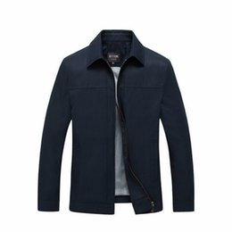 Wholesale Male Jackets Big Collar - Spring And Autumn Mens Jackets And Coats Middle-Aged Casual Male Jacket Turn-down Collar Solid Coats For Man Jackets Big Size