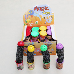 Wholesale Ma Year - Wholesale-5-7 Years Old Funny Trick Frighten For Magic Candy Jar Jump Out Toys With Voice Strange Jar Gags Practical Jokes ma