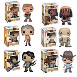 Wholesale Walking Dead Vinyl - 2017 Popular 10cm Vinyl Bobble Head The Walking Dead POP High Quality Movie Action Fugures Toy, EMS free shipping