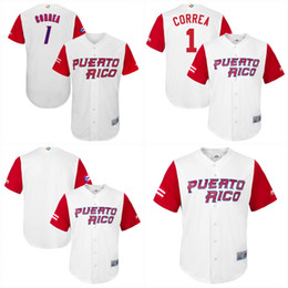 64f0f52b2  1 Carlos Correa Men Puerto Rico 2017 World Baseball Classic Jerseys 100%  Stiched Embroidery Logos Mix order baseball jerseys puerto rico jersey deals
