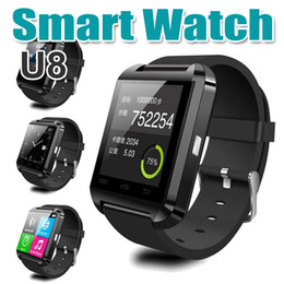 Wholesale Vibration Watch Phone - U8 Bluetooth Smart Watch Smartwatch For iOS iPhone Samsung Sony Huawei Android Phones Good Quality with Pedometer Passometer Vibration Motor