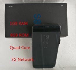 Wholesale Smart Phone Micro Sim - Goophone s8 Edge 1GB Ram 8GB Rom Quad Core 5.5inch s8 Mtk6582 3G Network Metal Frame S8 Smart Phone
