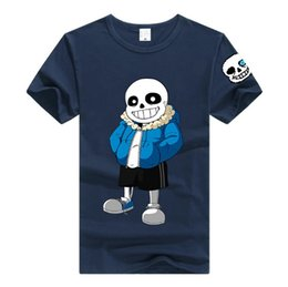 Wholesale Pink Costume For Men - Game Undertale Sans T-shirt Unisex Skeleton Fashion Men Women Cotton T-shirt Anime Cosplay for Christmas gift Undertale cos Costumes DM1177