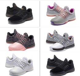8e91cacbfc2 2017 High Quality Harden Vol. 1 Mens Basketball Shoes Black White Wholesale  Fashion James Harden Shoes Sneakers Size 40-46