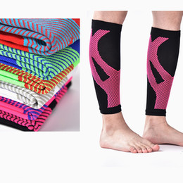 Wholesale Bike Elbow - Calf Sleeve Leg Compression Socks Guard Pad Protector Protect the calf Fashion outdoor basketball soccer bike compression socks Sports sock