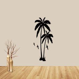 Wholesale Classic Lighting Products - New Product For Large Palm Tree Hall Bedroom Removable Wall Art Mural Giant Graphic Sticker Vinyl Sitting Room Diy