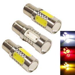 Wholesale H3 Red Led - S25 1156 BAU15S LED Auto Fog Light Car-Styling 7.5W COB LED Trailer Lights Tail Driving Bulb Truck Lights 12v Led Light bulb Car Accessories