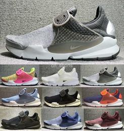 Wholesale Womens Flat Tassel Boots - 2017 New Air Presto Mens Womens Running Shoes Black Gray Sock Dart SE Boot Cheap Men Sport Shoes Outdoor Trainers Sneakers huarache 36-44
