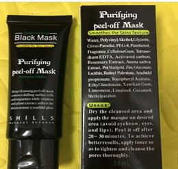 Wholesale Face Pulls - 20PCS LOT Wholesale SHILLS in face of activated carbon to black black mask Rip pull nasal membrane contractive pore acne mask