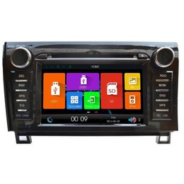 Wholesale Lcd Gps Navigation Bluetooth - 2Din 7inch High definition TFT LCD Digital capacitive Touch Sc0reen car DVD player car navigation radio DVD GPS for TOYOTA sequoia & Tundra