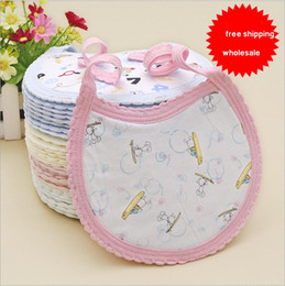 Wholesale Wholesale Baby Cotton Wash Cloths - Baby Feeding Newbaby Feeding Bibs Cheap Burp Cloths Kids Big Baby Feeding Waterproof Baby Wash Towers Organic Cotton Bibs Free shipping