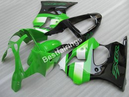 2019 parti di kawasaki zx6r Nuova carenatura hot parts per Kawasaki Ninja ZX6R 00 01 02 carena nera verde ZX6R 2000-2002 TY44 parti di kawasaki zx6r economici